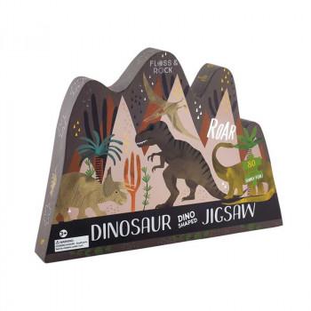 Dinosaur 80 Piece Jigsaw in Shaped Box