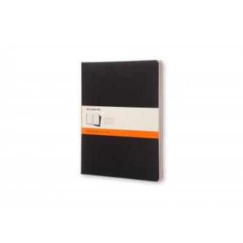 Moleskine Cahier Notebook Set of 3 Ruled Extra-Extra Large Black