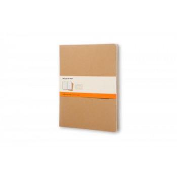 Moleskine Cahier Notebook Set of 3 Ruled Extra-Extra Large Kraft