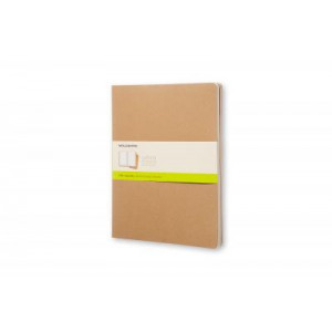Moleskine Cahier Notebook Set of 3 Plain Extra-Extra Large Kraft