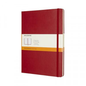 Moleskine Classic Hard Cover Notebook Ruled Extra Large Scarlet Red