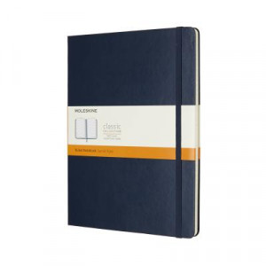 Moleskine Classic Hard Cover Notebook Ruled Extra Large Sapphire Blue