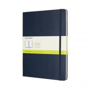 Moleskine Classic Hard Cover Notebook Plain Extra Large Sapphire Blue