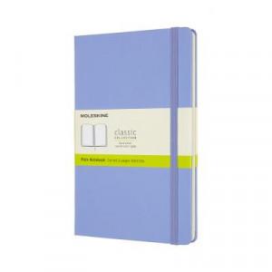 Moleskine Classic Hardcover Notebook Plain Large Hydrangea Blue