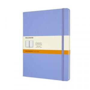 Moleskine Classic Hard Cover Notebook Ruled Extra Large Hydrangea Blue