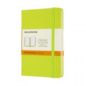 Moleskine Classic Hard Cover Notebook Ruled Lemon Green