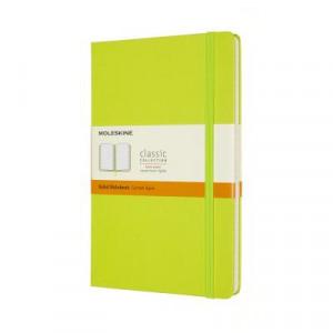 Moleskine Classic Hardcover Notebook Ruled Large Lemon Green