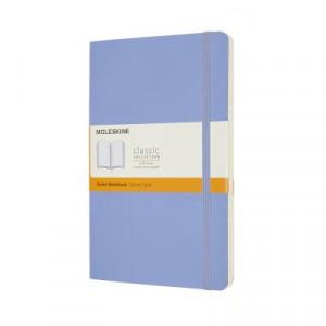 Moleskine Classic Soft Cover Notebook Ruled Large Hydrangea Blue