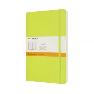 Moleskine Classic Soft Cover Notebook Ruled Large Lemon Green
