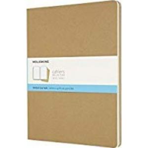 Moleskine Cahier Notebook Set of 3 Dot Grid Extra-Extra Large Kraft