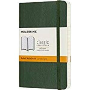 Moleskine Classic Soft Cover Notebook Ruled Pocket Myrtle Green