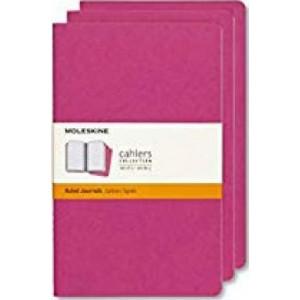 Moleskine Journal Cahier Pocket Ruled Pink: Set of 3
