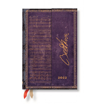 2022  Paperblanks Diary: Beethoven Week at a Time, Horizontal, Mini