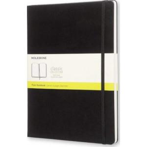 Moleskine Classic Hard Cover Notebook Plain Extra Large Black