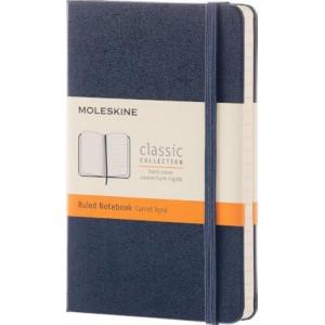 Moleskine Classic Hardcover Notebook Ruled Pocket Sapphire Blue