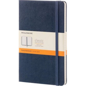 Moleskine Classic Hard Cover Notebook Ruled Large Sapphire Blue