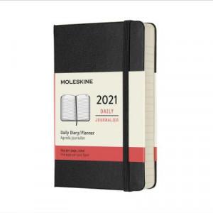 2021 Moleskine Daily Diary, Pocket Black Hardcover