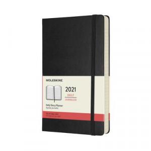 2021 Moleskine Daily Diary, Large Black Hardcover