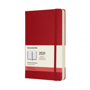 2021 Moleskine Daily Diary, Large Scarlet Red Hardcover