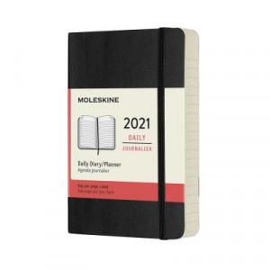 2021 Moleskine Daily Diary, Pocket Black Softcover