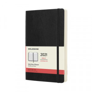 2021 Moleskine Daily Diary, Large Black Softcover
