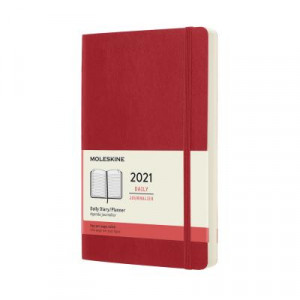 2021 Moleskine Daily Diary, Large Scarlet Red Softcover
