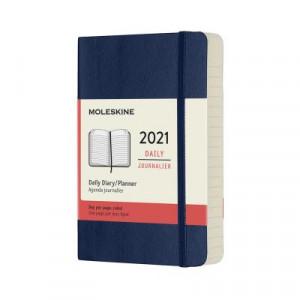 2021 Moleskine Daily Diary, Pocket Sapphire Blue Softcover