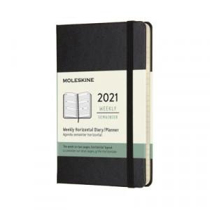 2021 Moleskine Weekly Diary, Pocket Black Hardcover