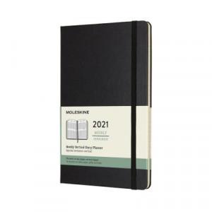 2021 Moleskine Weekly Vertical Diary, Large Black Hardcover