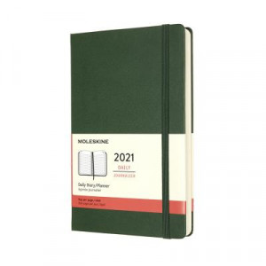 2021 Moleskine Daily Diary, Large Myrtle Green Hardcover