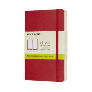Moleskine Classic Soft Cover Notebook Plain Pocket Scarlet Red