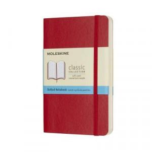Moleskine Classic Soft Cover Notebook Dot Grid Pocket Scarlet Red