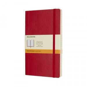 Moleskine Classic Soft Cover Notebook Ruled Large Scarlet Red