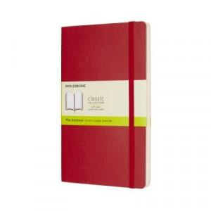 Moleskine Classic Soft Cover Notebook Plain Large Scarlet