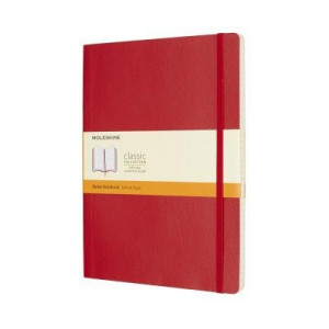 Moleskine Classic Soft Cover Notebook Ruled Extra Large Scarlet Red