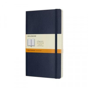 Moleskine Classic Soft Cover Notebook Ruled Large Sapphire Blue