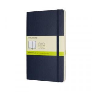 Moleskine Classic Soft Cover Notebook Plain Large Sapphire Blue