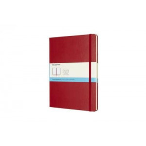 Moleskine Classic Hard Cover Notebook Dot Grid Extra Large Scarlet Red