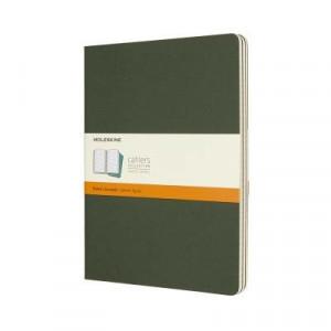 Moleskine Journal Cahier Extra Large Myrtle Green; Set of 3
