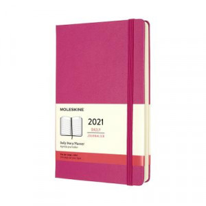 2021 Moleskine Daily Diary, Large Bougainvillea Pink Hardcover