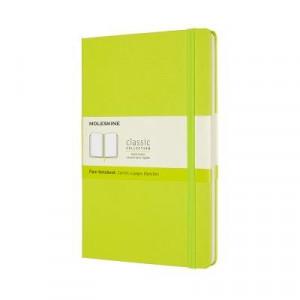 Moleskine Classic Hardcover Notebook Plain Large Lemon Green