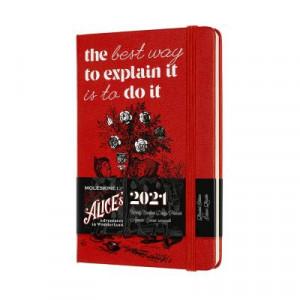 2021 Moleskine Weeky + Notes Diary, Pocket Alice In Wonderland
