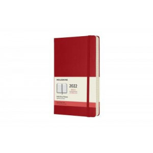 2022 Moleskine Daily Diary, Large Scarlet Red Hardcover