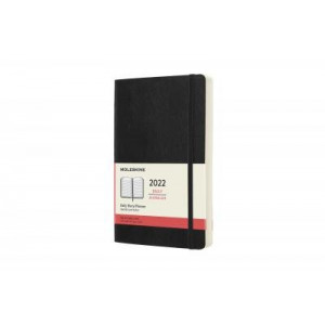 2022 Moleskine Daily Diary, Large Black Softcover