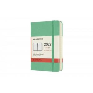 2022 Moleskine Daily Diary, Pocket Ice Green Hardcover