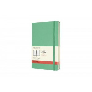 2022 Moleskine Daily Diary, Large Ice Green Hardcover