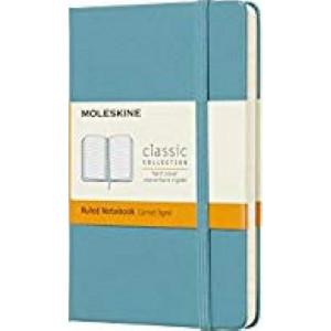 Moleskine Classic Hardcover Notebook Ruled Pocket Reef Blue