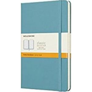 Moleskine Classic Hardcover Notebook Ruled Reef Blue