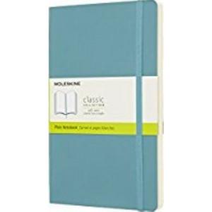 Moleskine Classic Soft Cover Notebook Plain Large Reef Blue