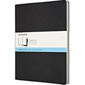Moleskine Cahier Notebook Set of 3 Dot Grid Extra-Extra Large Black